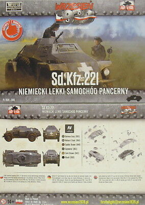 Leichter deutscher Spähpanzer Sd.Kfz.221 , First To Fight,1/72 , Plastik , *NEU*