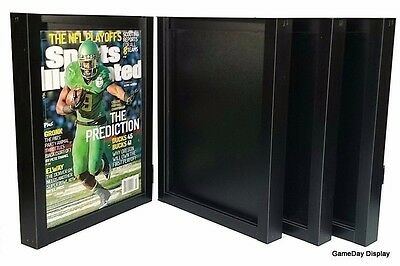 Lot of 4 Sports Illustrated Display Case Frame UV Protect July 1994 to Current