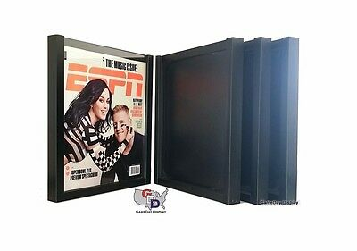 Lot of 4 ESPN Magazine Display Case Frame UV Protecting by GameDay Display