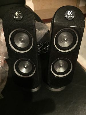 Two New Logitech Computer Speakers R-525. Never Used. 15 Foot Connecting Cord