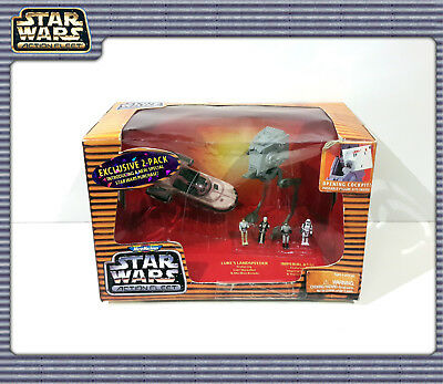 STAR WARS MMAction Fleet: Exclusive 2-Pack with AT-ST & Landspeeder (OVP)