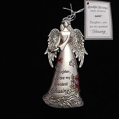 """NEW Beautiful Blessings Angel Figurine """"DAUGHTER, you are blessing..."""" by Ganz"""