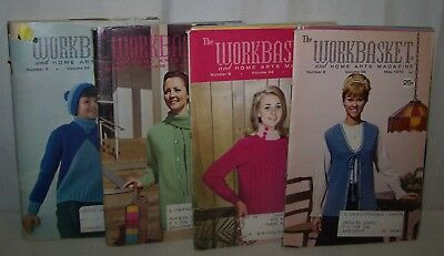 Lot 12 Vintage The Workbasket and Home Arts Magazine 1960's/1970's Books