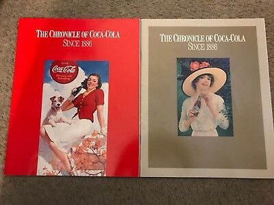 Lot of 2 Chronicle of Coca Cola Portrait of a Worldwide Company 1977 Books