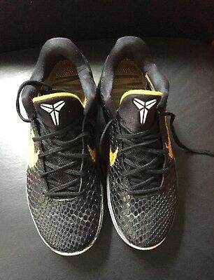 outlet store b72d8 fc8e3 Nike Zoom IV Kobe Snake Black Yellow Kobe Bryant 6 basketball shoe size 10,5