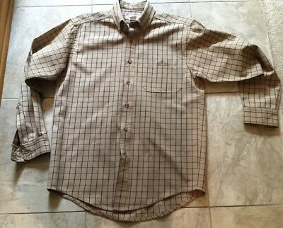 CC FILSON Mens 865 Plaid Classic Original Long Sleeve Wool Shirt Sz Medium USA