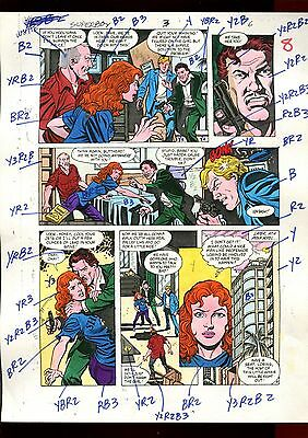 Superboy 3 Volume 2 Page 06 Color Guide-Original Art-1 Of A Kind-Jurgens-Mooney