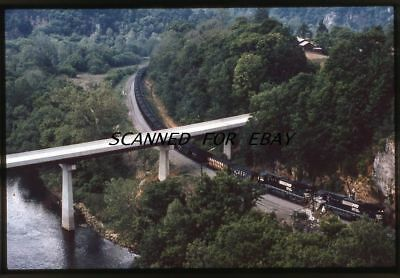 NS Norfolk Southern Double Header  35mm SLIDE-Railroad