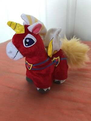 Royal Boy Uni Neopets Limited Ed Toys R Us Series 3 Plush Unicorn Red White