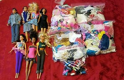 Mixed Lot Of Barbies And Ken Dolls, Clothing & Accessories