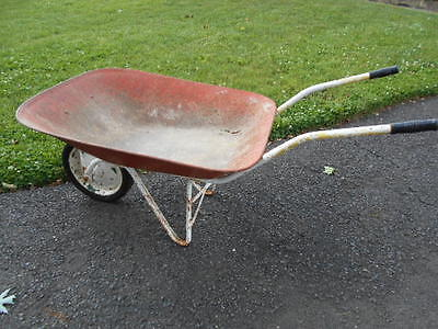 Antique 1960's Metal Wheelbarrow/Nice Display for Garden