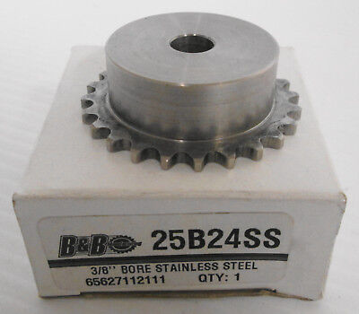 B&B 25B24SS Stainless Steel Sprocket 3/8""