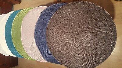 Round Woven Placemat Home Chrstmas Dinning Table Setting 38Cm Tablemat 7 Colours