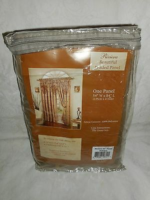 "New Riviera Beautiful Beaded Panel 54"" Wide 84"" Long Curtain Drape Antique Color"