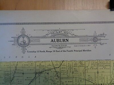 Antique Auburn, WI Fond du Lac County Plat Map Page From Atlas Dated 1910