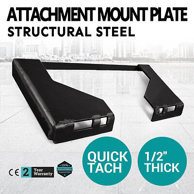 """1/2"""" Quick Tach Attachment Mount Plate Receiver Skid steer Adapter FREE SHIPPING"""