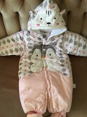 NEW cotton-padded warm outwear one-piece lovlely squirrel 12 months baby girl