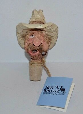 Chris Hammack Bottle Stopper Hoolihan Hank Spit 'n' Whittle Handmade