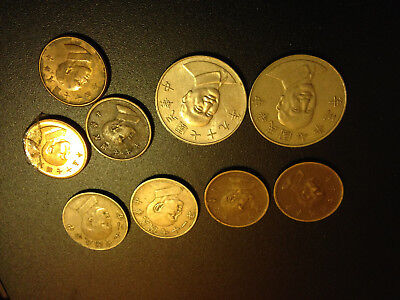 Set of 9 old Asian China Japan  coins No Reserve, liquidating collection!