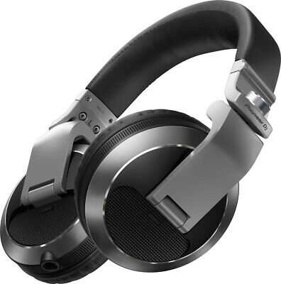 Pioneer DJ HDJ-X7 Silver Professional DJ Headphones w/ Coiled Cable & Carry Bag
