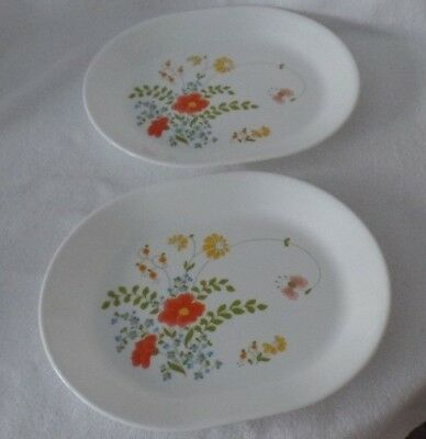 Corning Ware Wildflower Oval Serving Platters - Set of 2