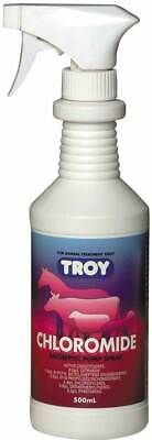 Troy Chloromide Antiseptic Spray 500mL Topical Infections Wounds Cuts & Abrasion