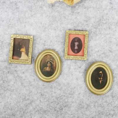 PRO Miniature 1/12th Scale Set of 4 Assorted Photo Frames DIY Dolls House#