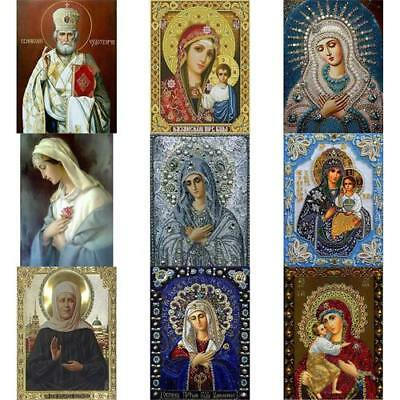 DIY 5D Diamond Painting Blessed Virgin Mary Embroidery Cross Crafts StitchDecor