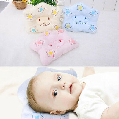 Anti-Roll Newborn Baby Foam Infant Memory Pillow Prevent Flat Support Head Neck#