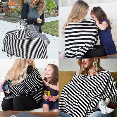 Nursing Scarf Cover Up Apron for Breastfeeding & Baby Car Canopy Seat Cover 2in1