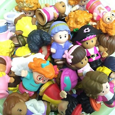 """Lot 10pcs Fisher Price LITTLE PEOPLE 2"""" Figure Cute baby kid toy gift randomly"""