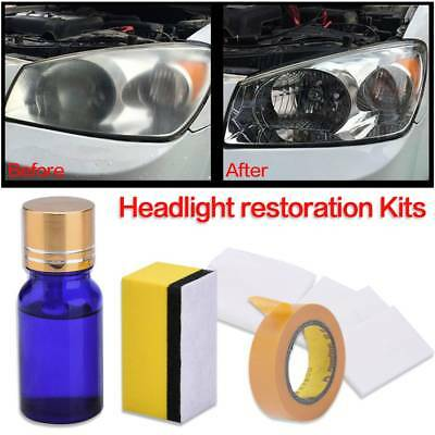Headlamp Lens Clean Restoration Car Motorcycle Headlight  Liquid Polish Cleaner.