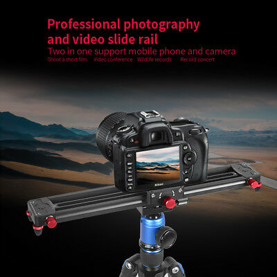 2 in 1 Professional Photography and Video Slide Rail for Camera and Smartphone