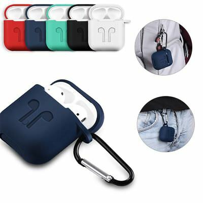 For Air Pods 3in1 Silicone Case Cover Earphone Pouch Protect Skin Anti-lost Wire