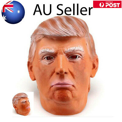 Donald Trump Mask President Latex Halloween Costume Fancy Dress Party Cosplay AU