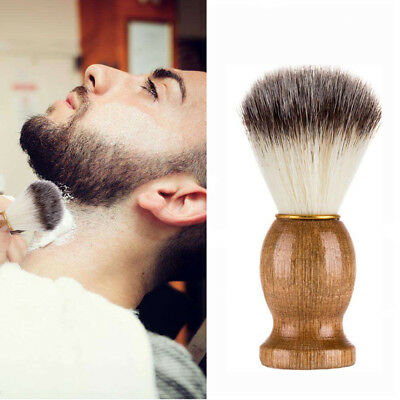 Pure Pig Bristles Hair Removal Beard Shaving Brush For Mens Shave Tools Cosmetic