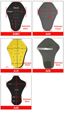 Motorcycle Back Protector Insert Armour Pad Jackets Protective Gear Motocross