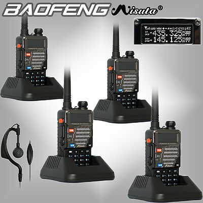 4Pcs Baofeng Misuta UV-5R Dual Band UHF VHF 136-174/400-520MHz Two Way FM Radio