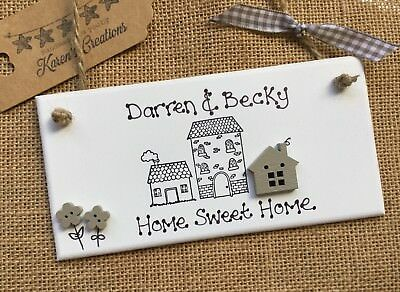 Personalised Home Sweet Family Name Plaque New House Warming Gift Sign Moving In