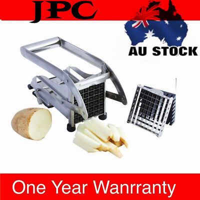 SAA Stainless French Fry Slicer Potato Chipper Chip Cutter Chopper Maker Tool AU