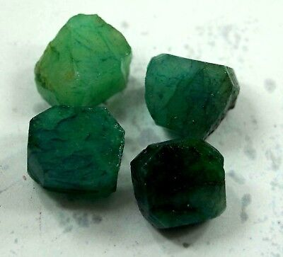 170 Ct. 4 Pc Natural Top Quality Green Colombia  Emerald rough Lot Gemstone