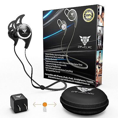 Bluetooth Headphones V4.1 Wireless Sport Stereo In-Ear Noise Cancelling Sound