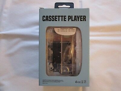 See Through Personal Cassette Player, Brand New