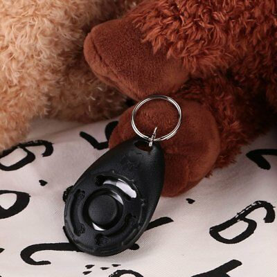 Pet Dog Training Clicker Trainer Train Tool Multi Color With Keychain Tool