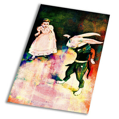 White Rabbit Alice In Wonderland A1 A2 A3 A4 A5 Vintage Art Print Poster