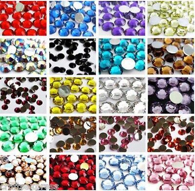 1000 RESIN RHINESTONES - DIAMANTE CRYSTAL GEMS - 2mm, 3mm, 4mm, 5mm