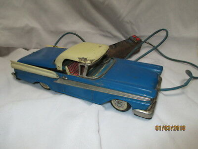 c1950s CRAGSTAN FORD FAIRLANE 500 JAPAN TIN TOY BATTERY OPERATED FOR RESTORATION