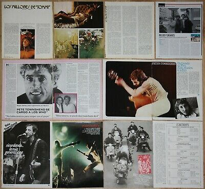 THE WHO spain italian clippings 1970s Pete Townshend Roger Daltrey magazine