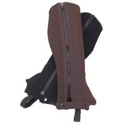Regent Rangers synthetic suede Half Chaps Childrens BROWN size 10