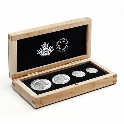 2016 Canada Wolf Fine Silver Fractional Proof Set Of 4 Coins